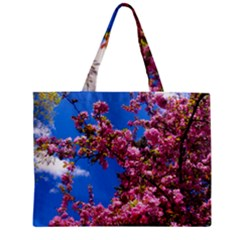 Pink Flowers Zipper Tiny Tote Bags