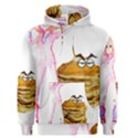 MAL GIRL AND MR PANCAKE Men s Pullover Hoodies View1
