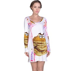 Mal Girl And Mr Pancake Long Sleeve Nightdresses