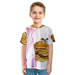Mal Girl And Mr Pancake Kid s Sport Mesh Tees