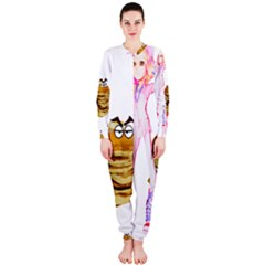 Mal Girl And Mr Pancake Onepiece Jumpsuit (ladies)  by michaelandrewlaw