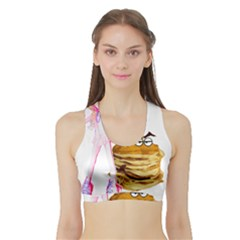 Mal Girl And Mr Pancake Women s Sports Bra With Border by michaelandrewlaw
