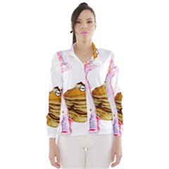Mal Girl And Mr Pancake Wind Breaker (women) by michaelandrewlaw