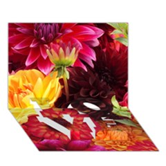Bunch Of Flowers Love Bottom 3d Greeting Card (7x5)  by trendistuff