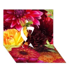 Bunch Of Flowers Ribbon 3d Greeting Card (7x5)  by trendistuff