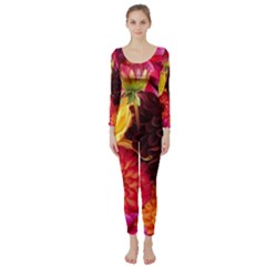 Bunch Of Flowers Long Sleeve Catsuit
