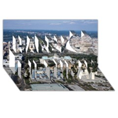 Washington Dc Happy Birthday 3d Greeting Card (8x4)