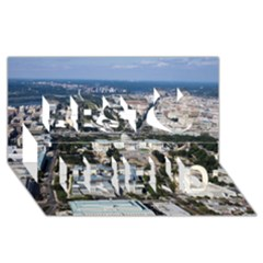 Washington Dc Best Friends 3d Greeting Card (8x4)