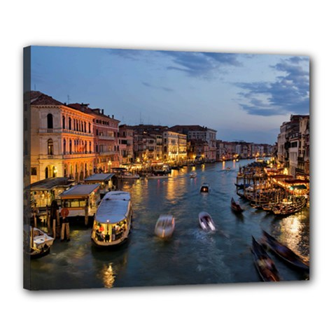 Venice Canal Canvas 20  X 16  by trendistuff