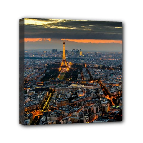 Paris From Above Mini Canvas 6  X 6  by trendistuff
