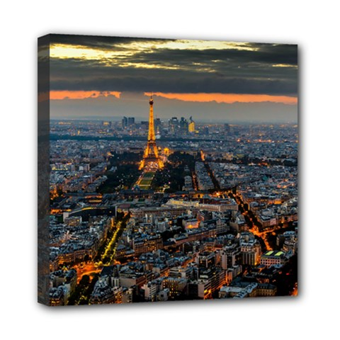 Paris From Above Mini Canvas 8  X 8  by trendistuff