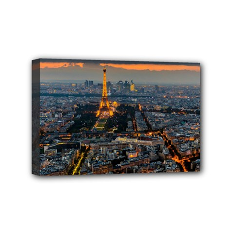 Paris From Above Mini Canvas 6  X 4  by trendistuff