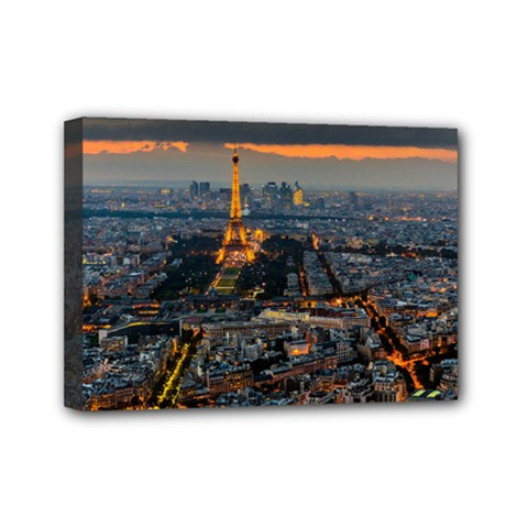 Paris From Above Mini Canvas 7  X 5  by trendistuff
