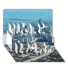 Miami Work Hard 3d Greeting Card (7x5)  by trendistuff