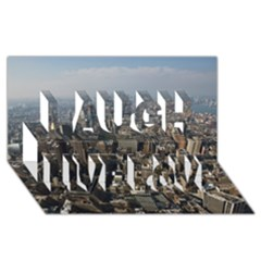 Manhattan 2 Laugh Live Love 3d Greeting Card (8x4)