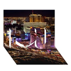 Las Vegas 2 I Love You 3d Greeting Card (7x5)  by trendistuff
