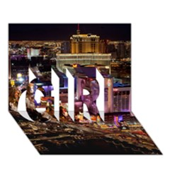 Las Vegas 2 Girl 3d Greeting Card (7x5)  by trendistuff