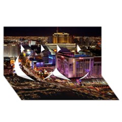 Las Vegas 2 Twin Hearts 3d Greeting Card (8x4)  by trendistuff