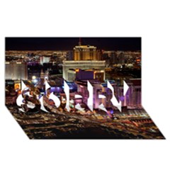 Las Vegas 2 Sorry 3d Greeting Card (8x4)  by trendistuff