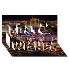Las Vegas 2 Best Wish 3d Greeting Card (8x4)  by trendistuff