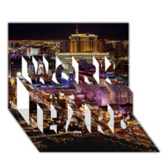Las Vegas 2 Work Hard 3d Greeting Card (7x5)  by trendistuff