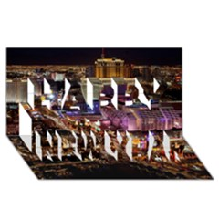 Las Vegas 2 Happy New Year 3d Greeting Card (8x4)  by trendistuff