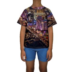Las Vegas 2 Kid s Short Sleeve Swimwear by trendistuff