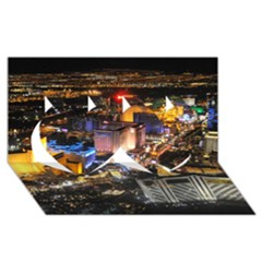 Las Vegas 1 Twin Hearts 3d Greeting Card (8x4)  by trendistuff