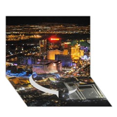 Las Vegas 1 Circle Bottom 3d Greeting Card (7x5)  by trendistuff
