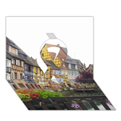 Colmar France Ribbon 3d Greeting Card (7x5)  by trendistuff
