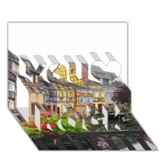 Colmar France You Rock 3d Greeting Card (7x5)  by trendistuff