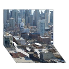 Chicago Love Bottom 3d Greeting Card (7x5)  by trendistuff