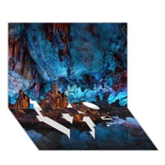 Reed Flute Caves 1 Love Bottom 3d Greeting Card (7x5)  by trendistuff