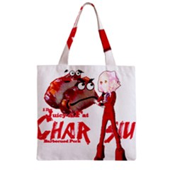 Michael Andrew Law s Mal Girl & Mr Bbq Pork Zipper Grocery Tote Bags