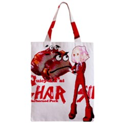 Michael Andrew Law s Mal Girl & Mr Bbq Pork Zipper Classic Tote Bags by michaelandrewlaw