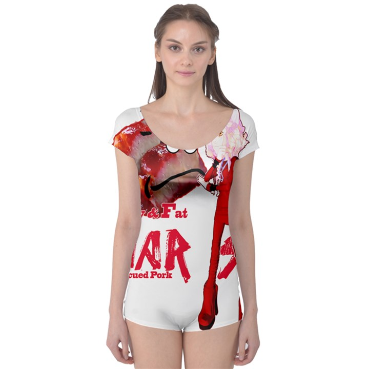 Michael Andrew Law s Mal Girl & Mr.BBQ Pork Short Sleeve Leotard