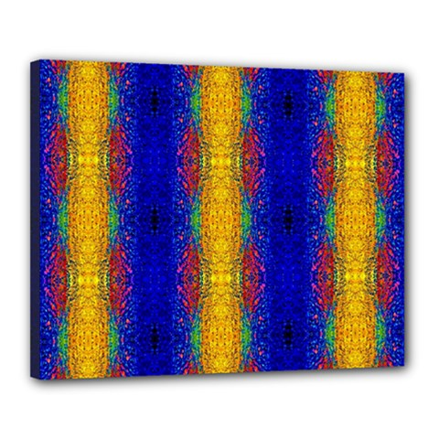 Cool  Abstract Neon Pattern Canvas 20  X 16  by Costasonlineshop