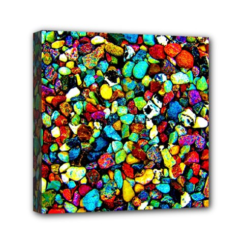 Colorful Stones, Nature Mini Canvas 6  X 6  by Costasonlineshop
