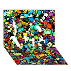 Colorful Stones, Nature Love 3d Greeting Card (7x5)  by Costasonlineshop