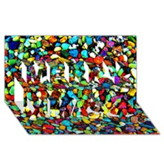 Colorful Stones, Nature Merry Xmas 3d Greeting Card (8x4)  by Costasonlineshop