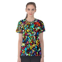Colorful Stones, Nature Women s Cotton Tee by Costasonlineshop