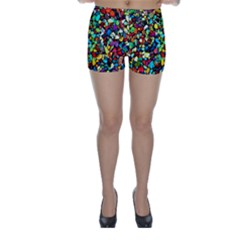 Colorful Stones, Nature Skinny Shorts by Costasonlineshop