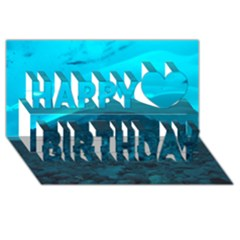 Mendenhall Ice Caves 1 Happy Birthday 3d Greeting Card (8x4)