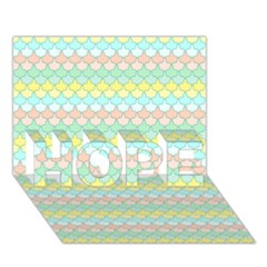 Scallop Repeat Pattern In Miami Pastel Aqua, Pink, Mint And Lemon Hope 3d Greeting Card (7x5)  by PaperandFrill