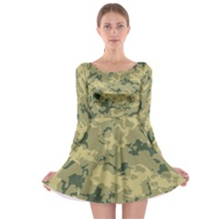 Greencamouflage Long Sleeve Skater Dress by RespawnLARPer