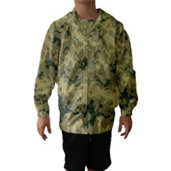 Greencamouflage Hooded Wind Breaker (kids)