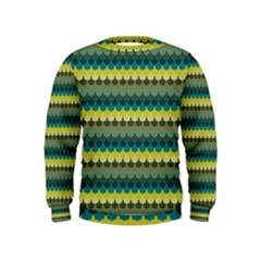 Scallop Pattern Repeat In  new York  Teal, Mustard, Grey And Moss Boys  Sweatshirts