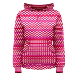 Valentine Pink And Red Wavy Chevron Zigzag Pattern Women s Pullover Hoodies by PaperandFrill