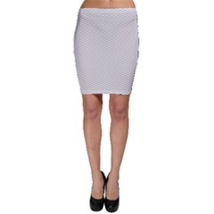 Silver And White Chevrons Wavy Zigzag Stripes Bodycon Skirts