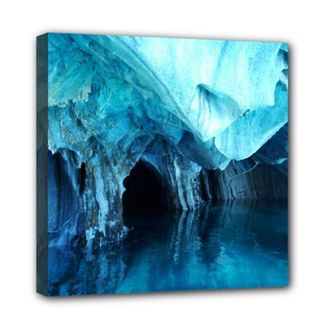 Marble Caves 3 Mini Canvas 8  X 8  by trendistuff